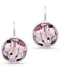 Anne Sisteron - 14kt White Gold Pink Amethyst Earrings - Lyst