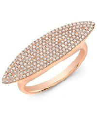 Anne Sisteron - 14kt Rose Gold Diamond Capri Ring - Lyst