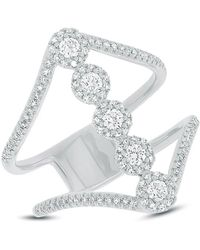 Anne Sisteron - 14kt White Gold Diamond Catherine Ring - Lyst