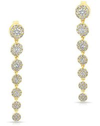 Anne Sisteron - 14kt Yellow Gold Diamond Francesca Earrings - Lyst