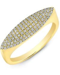 Anne Sisteron - 14kt Yellow Gold Diamond Capri Ring - Lyst