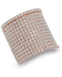 Anne Sisteron - 14kt Rose Gold Diamond Luxe Roma Ring - Lyst