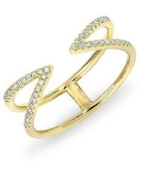 Anne Sisteron | 14kt Yellow Gold Diamond Open Spike Ring | Lyst