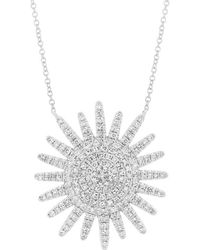Anne Sisteron - 14kt White Gold Diamond Aurora Sun Necklace - Lyst