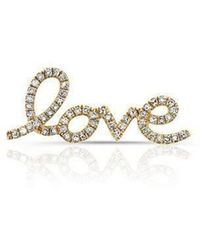 Anne Sisteron - 14kt Yellow Gold Diamond Love Ear Climber - Lyst