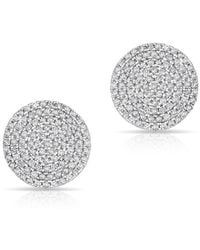 Anne Sisteron - 14kt White Gold Diamond Luxe Disc Stud Earrings - Lyst