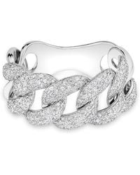 Anne Sisteron - 14kt White Gold Luxe Light Diamond Chain Link Ring - Lyst