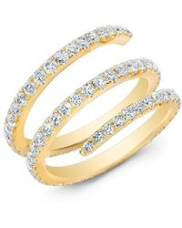 Anne Sisteron - 14kt Yellow Gold Diamond Spring Ring - Lyst