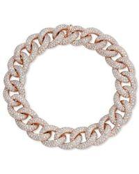 Anne Sisteron - 14kt Rose Gold Diamond Luxe Chain Link Bracelet - Lyst
