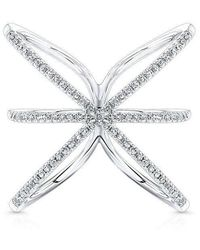 Anne Sisteron - 14kt White Gold Diamond Starburst Ring - Lyst