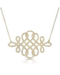 Anne Sisteron | 14kt Yellow Gold Diamond Woven Lace Necklace | Lyst