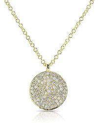 Anne Sisteron - 14kt Yellow Gold Diamond Circlet Diamond Disc Necklace - Lyst