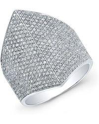 Anne Sisteron - 14kt White Gold Diamond Helmet Ring - Lyst