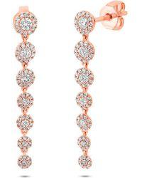 Anne Sisteron - 14kt Rose Gold Diamond Francesca Earrings - Lyst