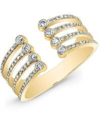 Anne Sisteron - 14kt Yellow Gold Diamond Electric Ring - Lyst
