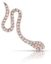 Anne Sisteron - 14kt Rose Gold Diamond Snake Ear Climber - Lyst