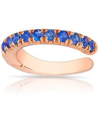 Anne Sisteron - 14kt Rose Gold Sapphire Lola Hinge Ear Cuff - Lyst