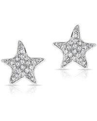 Anne Sisteron - 14kt White Gold Diamond Starfish Stud Earrings - Lyst