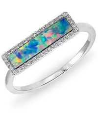 Anne Sisteron - 14kt White Gold Opal Diamond Brick Ring - Lyst