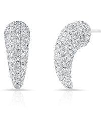 Anne Sisteron - 14kt White Gold Diamond Talon Stud Earrings - Lyst