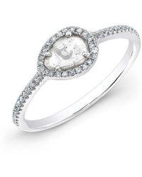Anne Sisteron - 14kt White Gold Sasha Diamond Slice Ring - Lyst