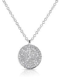 Anne Sisteron - 14kt White Gold Diamond Circlet Diamond Disc Necklace - Lyst