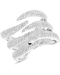 Anne Sisteron - 14kt White Gold Diamond Flame Ring - Lyst