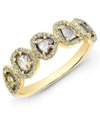 Anne Sisteron - 14kt Yellow Gold Diamond Slice Princess Ring - Lyst