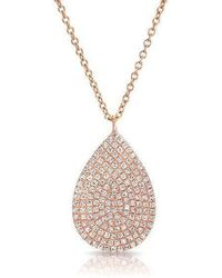 Anne Sisteron | 14kt Rose Gold Diamond Large Pear Shaped Necklace | Lyst