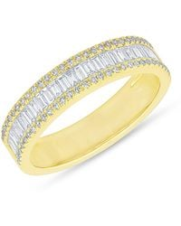 Anne Sisteron - 14kt Yellow Gold Half Baguette Diamond Kate Band Ring - Lyst
