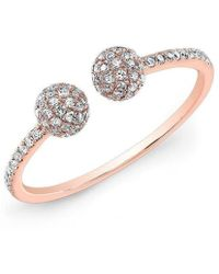 Anne Sisteron - 14kt Rose Gold Diamond Party Ring - Lyst