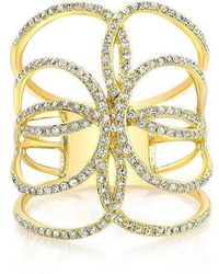 Anne Sisteron - 14kt Yellow Gold Diamond Butterfly Ring - Lyst