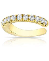 Anne Sisteron - 14kt Yellow Gold Diamond Lola Hinged Ear Cuff - Lyst