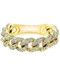Anne Sisteron - 14kt Yellow Gold Diamond Thin Chain Link Ring - Lyst
