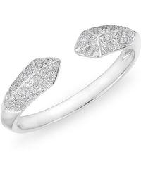 Anne Sisteron - 14kt White Gold Diamond Pyramid Horn Ring - Lyst