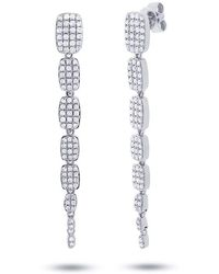 Anne Sisteron - 14kt White Gold Diamond Small Sienna Earrings - Lyst