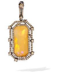 Annoushka - Unique 18ct White Gold Opal Diamond Pendant - Lyst