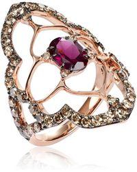 Annoushka - Imperial 18ct Rose Gold Rhodolite Garnet Ring - Lyst