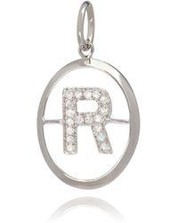 Annoushka - 18ct White Gold Initial R Pendant - Lyst