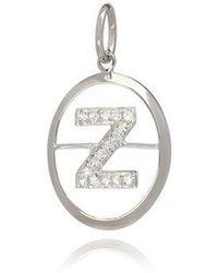 Annoushka - 18ct White Gold Initial Z Pendant - Lyst
