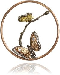 Annoushka - 18ct Rose Gold Diamond Butterfly Hoopla - Lyst