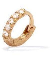 Annoushka - Dusty Diamonds 18ct Gold Diamond Mini Hoop - Lyst d122f3a3a48