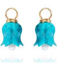 Annoushka - 18ct Gold Turquoise Tulip Earring Drops - Lyst