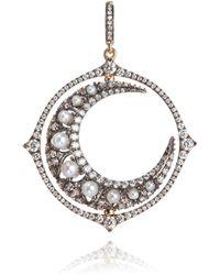 Annoushka - Mythology 18ct White Gold Diamond Spinning Moon Pendant - Lyst