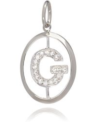 Annoushka - 18ct White Gold Initial G Pendant - Lyst
