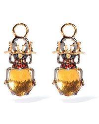 Annoushka - Mythology 18ct Gold Citrine Beetle Earring Drops - Lyst