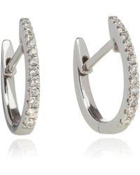Annoushka - Eclipse 18ct White Gold Diamond Fine Hoop Earrings - Lyst