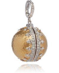 Annoushka - Mythology 18ct Gold Orb Locket Charm - Lyst