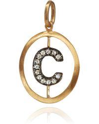 Annoushka - 18ct Gold & Diamond Alphabet C Pendant - Lyst