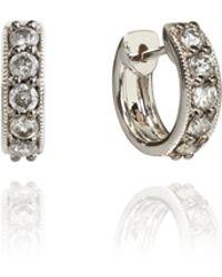 Annoushka - Dusty Diamond Hoop Earrings - Lyst